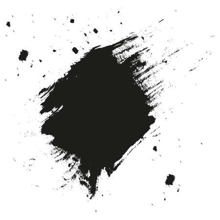 Fond d'éclaboussures de peinture. Taches d'encre de calligraphie de détresse grunge. Explosion de coup d'encre noire. Fond d'éclaboussure. Gouttes de peinture en aérosol.