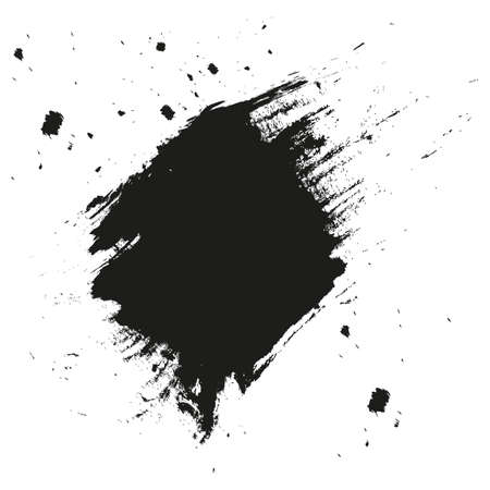Paint splatter background. Grunge distress calligraphy ink stains. Black ink blow explosion. Splatter background. Spray paint drops. Illustration