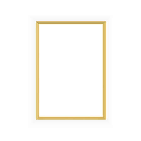 Realistic black frame isolated on white background. Perfect for your presentations. Vector Stock Illustratie