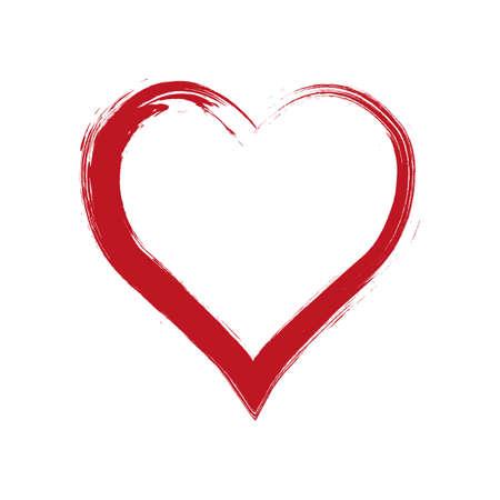 coeur grunge de vecteur, Saint Valentin, élément de design vintage illustration