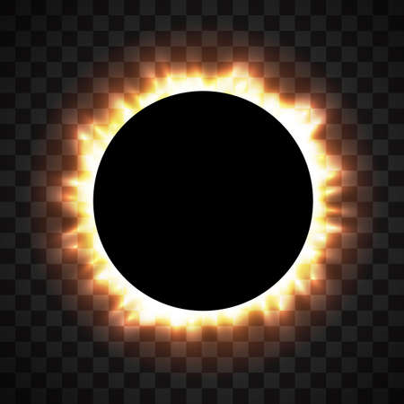 Total eclipse of the sun, eclipse background, vector
