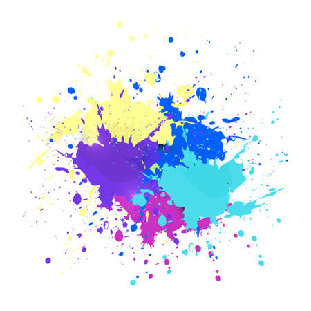 Vector watercolor splash texture background isolated. Hand-drawn blob, spot. Watercolor effects. colors abstract background. Vector Illustratie