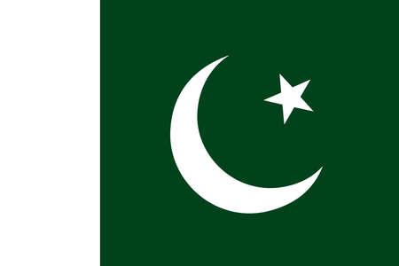 Flag of Pakistan. Vector Ilustração