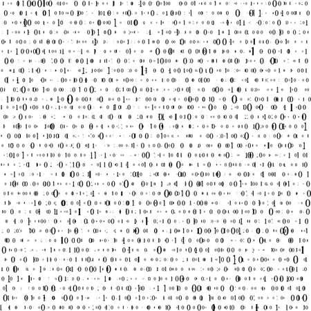 Fond abstrait de la matrice. Code informatique binaire. Codage. Notion de pirate informatique. Illustration vectorielle