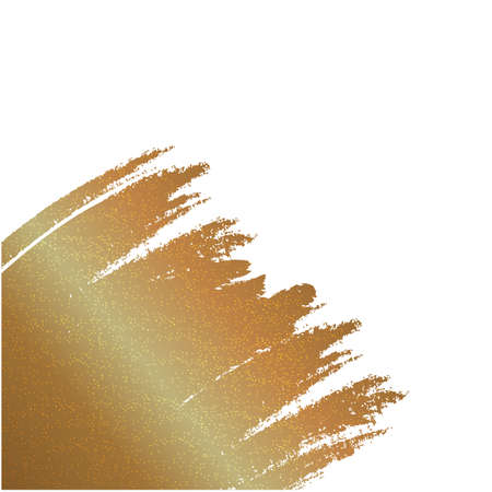 Great vector gold texture with art effect. Abstract golden ink spots, splashes, blots and smudges