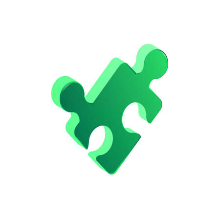 Puzzle piece balancing - vector. Falling puzzle pieces. Vector illustration.