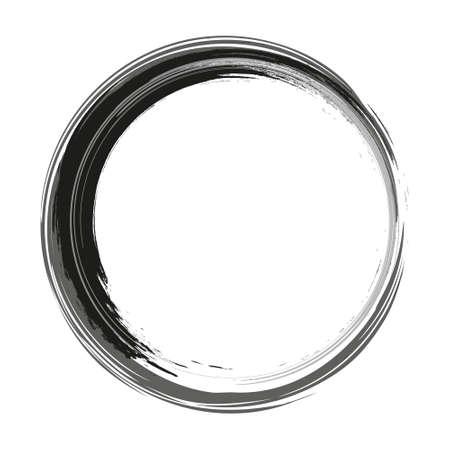 Circle Frame. Grunge Banners. Retro shapes for Emblems. Vector element for your design Design. Round frame brush stroke.