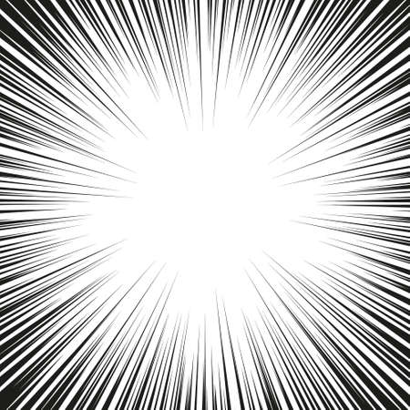 Speed lines Flying particles Seamless pattern Fight stamp Manga graphic texture Sun rays or star burst Black vector elements