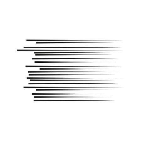 illustration vector abstract speed motion black lines with circle in the middle. Illustration