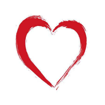 Insieme dei cuori. Collezione di francobolli grunge. Forme d'amore per il tuo design. Simboli in difficoltà. Segni di San Valentino con texture. Illustrazione di vettore. Vettoriali