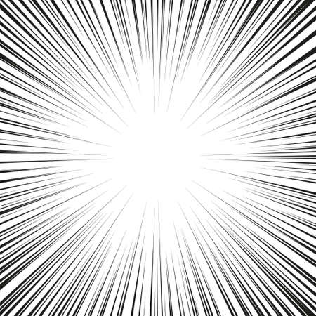 illustration vector abstract speed motion black lines with circle in the middle.
