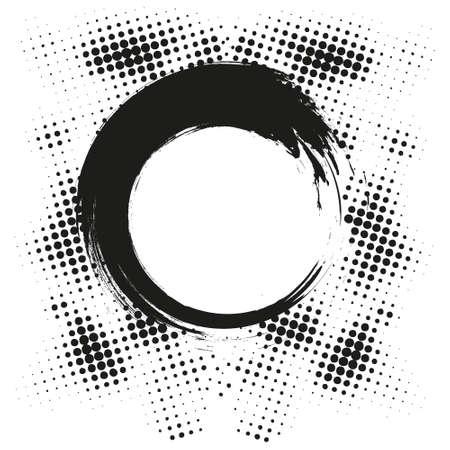 Black Abstract Halftone Design Element, vector illustration
