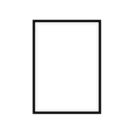 Realistic black frame isolated on white. It can be used for presentations. Vector EPS10 illustration. Ilustração