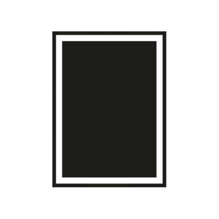 Realistic black frame isolated on white background. Perfect for your presentations. Vector illustration Ilustração