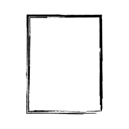 Vector brush strokes square of paint on white background.  brush square.  label design element vector illustration.