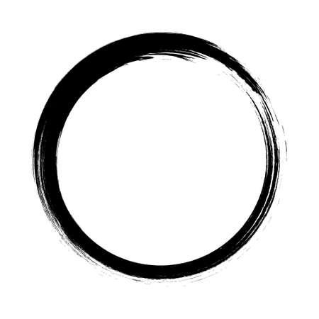 Black grungy vector abstract  circle