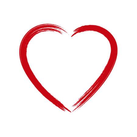 Vector Grunge Heart .
