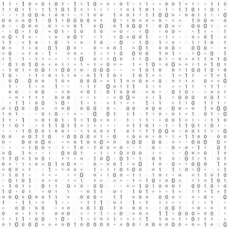 Background With Digits On Screen. binary code zero one matrix white background. banner, pattern, wallpaper.