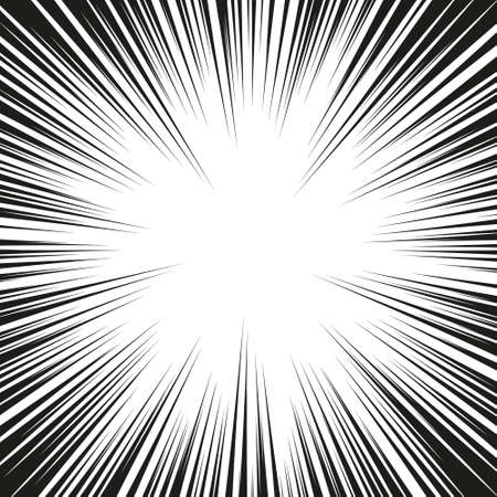 Comic radial speed lines background