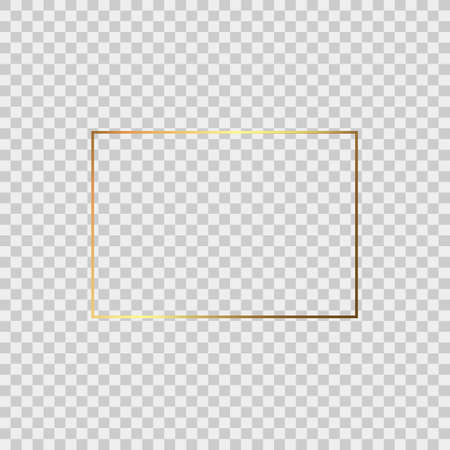Realistic gold frame isolated on background. Perfect for your presentations. Vector