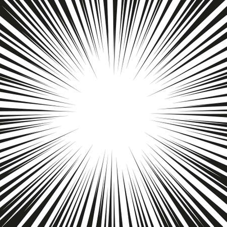 Explosion speed lines. Vector Illustration