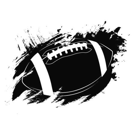 Football Vector Icon American football ball, great design for any purposes. Abstract background. Graphic element vector.