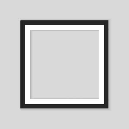 Realistic black frame isolated on white background. Perfect for your presentations. Vector Иллюстрация
