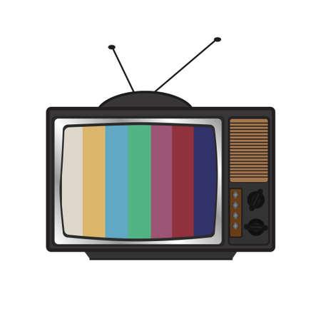 illustration of retro tv set Vintage icon for screen wallpaper design. illustration. Isolated. Communication icon symbol.
