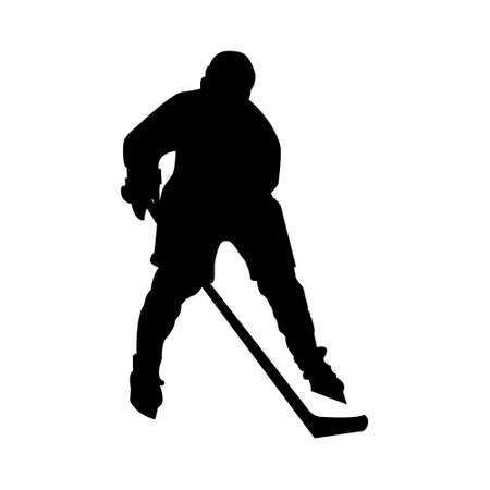 Hockey player. Hockey player illustration, great design for any purposes. Professional competition. flat illustration. illustration design. Technology illustration. Symbol, sign