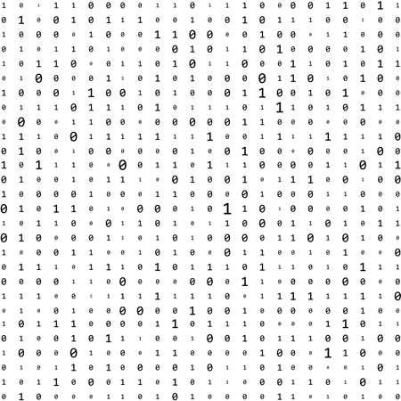 Abstract Matrix Background. Binary Computer Code. Coding. Hacker concept. Vector Background Illustration Illustration