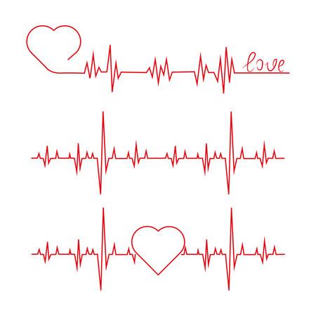 Heartbeat Heart Shape Centered Line Heartbeat Heart Shape Centered Line