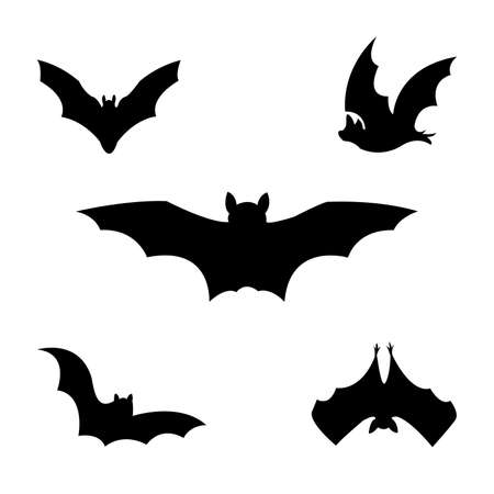 Halloween bat clip art illustration isolated on a white background.