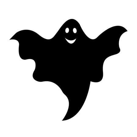 Boo, scary ghost vector illustration for Halloween, cartoon character for holiday.