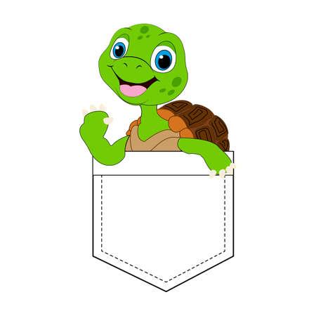 Cute turtle cartoon. T-shirt Graphic.Animal vector design.