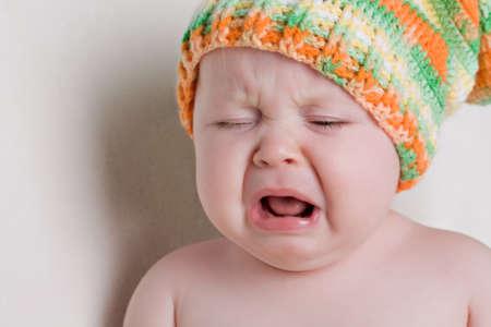 Ein Jahr alte Baby schreien Standard-Bild