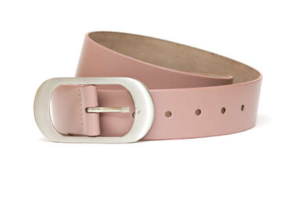 Pink woman's belt isolated over white