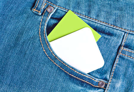 Close up tags in jeans pocket Stock Photo - 12930538