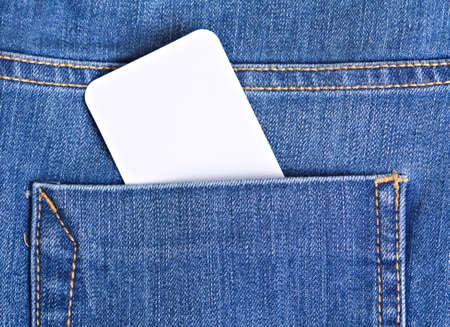 Close up tags in jeans pocket Stock Photo - 12930537