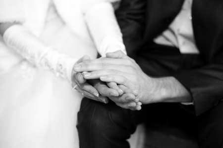 Couple hands. Black-white image Stock Photo - 16272675