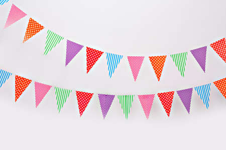 Flag garland on a white background