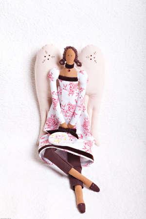 Hand made beautiful soft angel doll 版權商用圖片