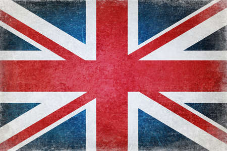Grunge british flag photo