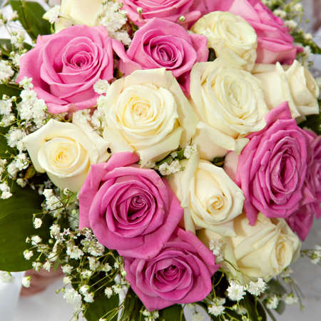 trillium: Closeup Wedding bouquet