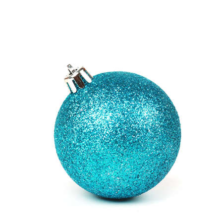 Christmas blue shine bauble