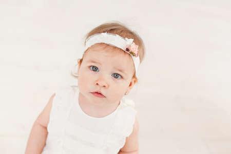 bebes niñas: Lindo bebé niña retrato