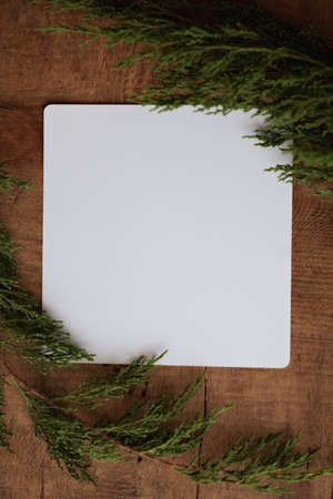 Blank card for your text behind christmas background