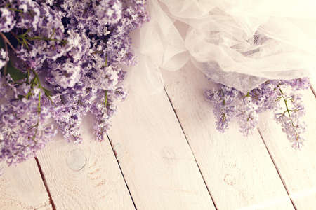Gentle spring background with lilac