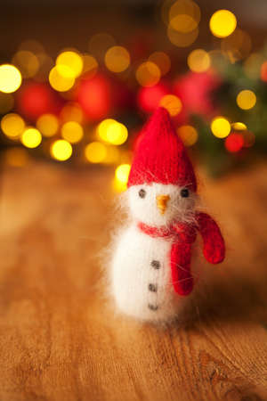 Snowman toy holiday christmas or new year background Stockfoto