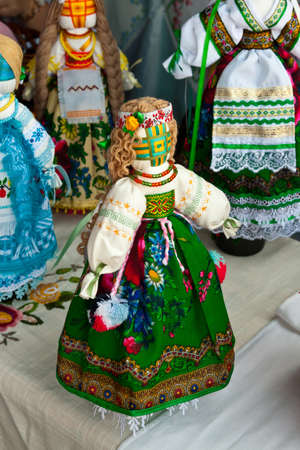 The Ukrainian national doll in traditional clothes photo