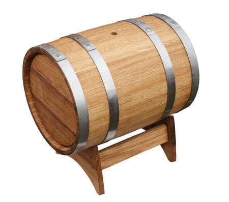 oak barrel: Oak barrel isolated on a white background
